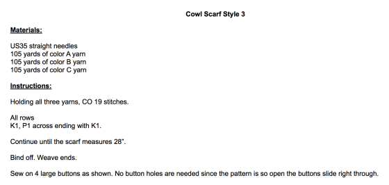 Cowl Instruction pic