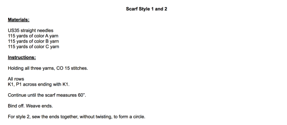 scarf instruction pic